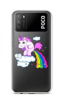 Zadní silikonový kryt na Xiaomi Poco M3 Rainbow Disaster