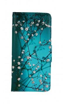 Knížkové pouzdro na Xiaomi Poco M3 Pro Modré s květy