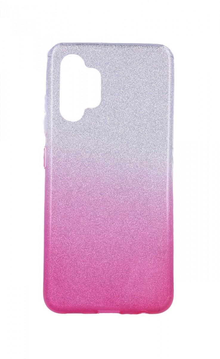 Zadní pevný kryt Forcell na Samsung A32 glitter stříbrno-růžový
