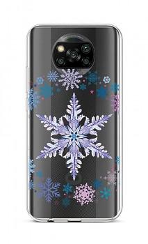 Zadní silikonový kryt na Xiaomi Poco X3 Snowflake