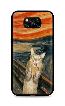 Zadní silikonový kryt DARK na Xiaomi Poco X3 Scared Cat