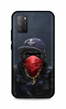 Zadní silikonový kryt DARK na Xiaomi Poco M3 Monkey Gangster