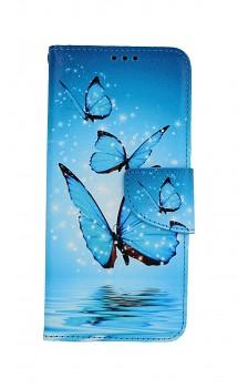 Knížkové pouzdro na Samsung A32 Modří motýlci