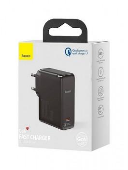 Rychlonabíječka Baseus GaN2 100W včetně USB-C datového kabelu černá