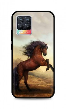 Zadní silikonový kryt DARK na Realme 8 Brown Horse