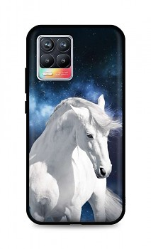 Zadní silikonový kryt DARK na Realme 8 White Horse