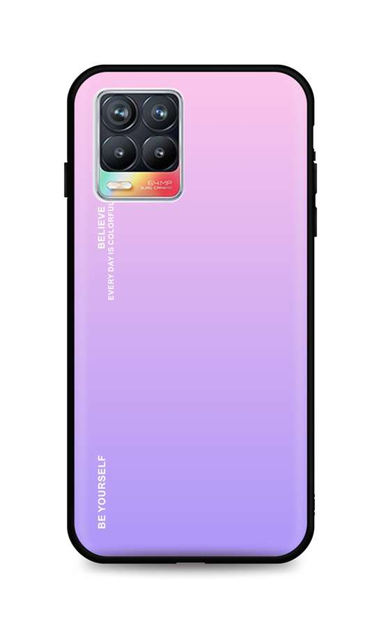 Zadní pevný kryt LUXURY na Realme 8 duhový růžový