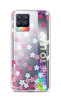 Zadní silikonový kryt na Realme 8 Pink Blossom