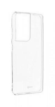 Zadní silikonový kryt Roar na Samsung S21 Ultra průhledný