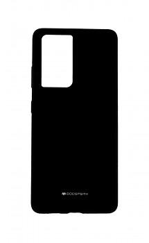 Zadní silikonový kryt Mercury Silicone na Samsung S21 Ultra černý