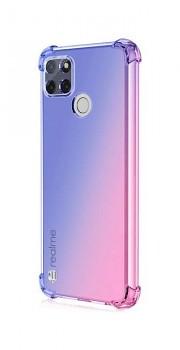 Zadní silikonový kryt na Realme C21 Shock duhový modro-růžový