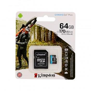 Paměťová karta Kingston 64GB micro SDXC Canvas Go Plus