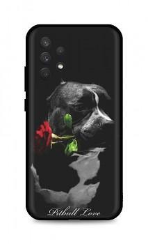 Zadní silikonový kryt DARK na Samsung A32 Pitbull Love