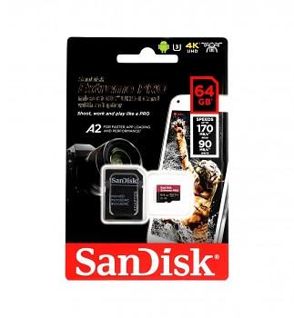 Paměťová karta SanDisk Extreme PRO 64GB micro SDXC