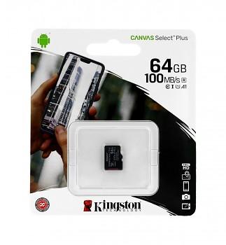 Paměťová karta Kingston Canvas Select Plus 64GB micro SDXC bez adaptéru