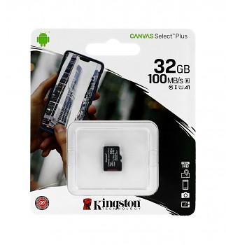 Paměťová karta Kingston Canvas Select Plus 32GB micro SDHC bez adaptéru