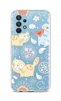 Zadní silikonový kryt na Samsung A32 Happy Cats