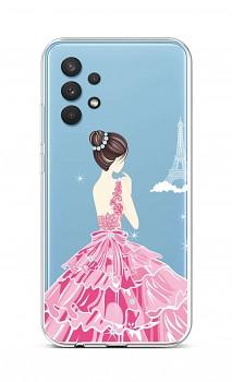 Zadní silikonový kryt na Samsung A32 Pink Princess