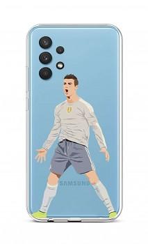 Zadní silikonový kryt na Samsung A32 Fotbalista