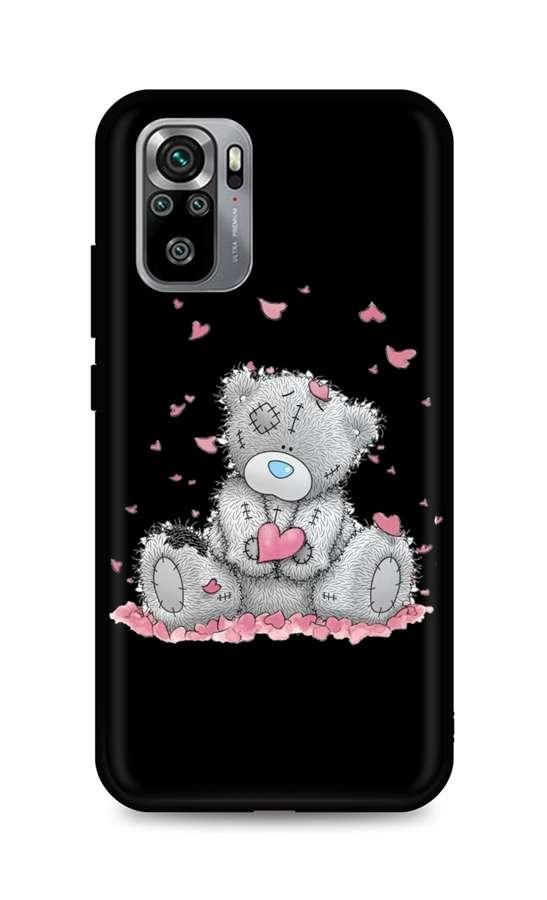 Zadní silikonový kryt DARK na Xiaomi Redmi Note 10S Lovely Teddy Bear