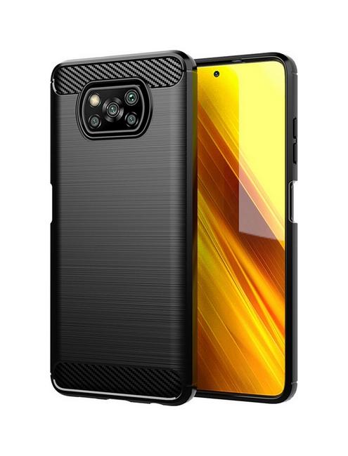 Zadní silikonový kryt na Xiaomi Poco X3 Pro černý