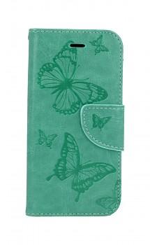 Knížkové pouzdro na iPhone SE 2020 Butterfly zelené