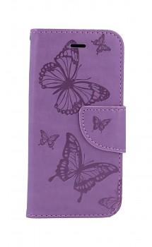 Knížkové pouzdro na iPhone SE 2020 Butterfly fialové