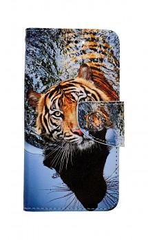 Knížkové pouzdro na iPhone SE 2020 Hnědý tygr