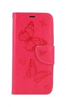 Knížkové pouzdro na iPhone 12 mini Butterfly růžové