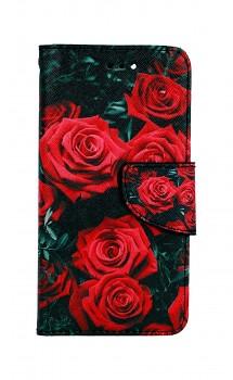 Knížkové pouzdro na iPhone SE 2020 Červené růžičky