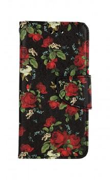 Knížkové pouzdro na iPhone SE 2020 Květy růží