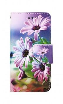 Knížkové pouzdro na iPhone SE 2020 Fialové květy