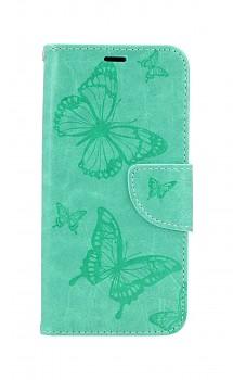 Knížkové pouzdro na iPhone 11 Butterfly zelené