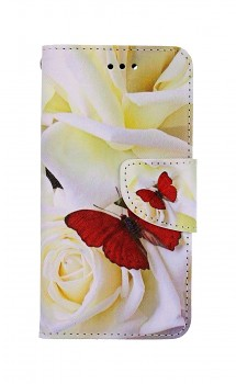 Knížkové pouzdro na iPhone SE 2020 Červený motýl