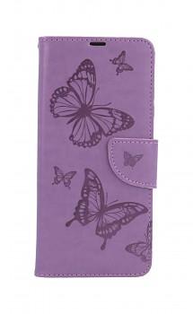 Knížkové pouzdro na Xiaomi Poco X3 Butterfly fialové