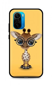 Zadní silikonový kryt DARK na Xiaomi Poco F3 Cute Giraffe