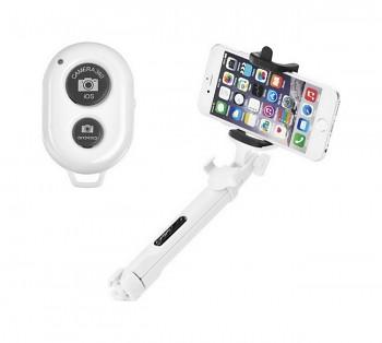 Bluetooth tripod selfie tyč Blun bílá