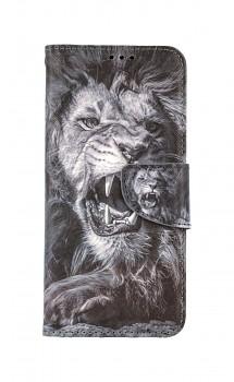 Knížkové pouzdro na Realme 8 Černobílý lev