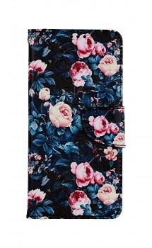 Knížkové pouzdro na Samsung A52 Růžičky