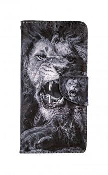 Knížkové pouzdro na Samsung A52 Černobílý lev