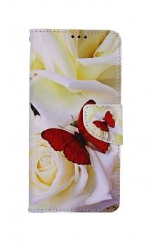 Knížkové pouzdro na Samsung A52 Červený motýl