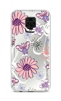 Zadní silikonový kryt na Xiaomi Redmi Note 9 Pro Flowers