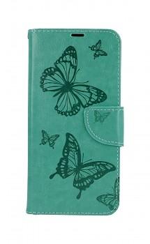 Knížkové pouzdro na Xiaomi Redmi Note 10 Butterfly zelené
