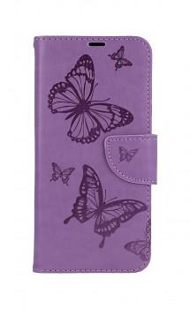 Knížkové pouzdro na Xiaomi Redmi Note 10 Butterfly fialové