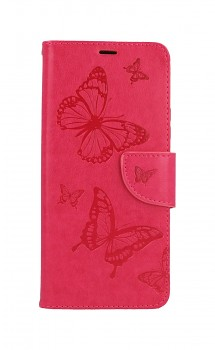 Knížkové pouzdro na Xiaomi Redmi Note 10 Pro Butterfly růžové