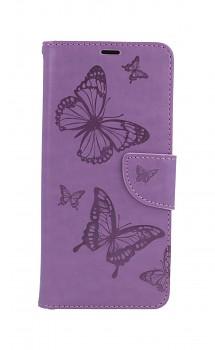 Knížkové pouzdro na Xiaomi Redmi Note 10 Pro Butterfly fialové