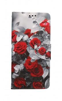 Knížkové pouzdro na Xiaomi Redmi 9 Červené růže mix