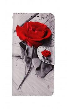 Knížkové pouzdro na Xiaomi Redmi 9 Červená růže