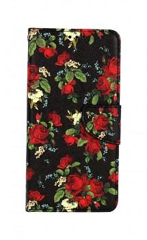 Knížkové pouzdro na Xiaomi Redmi 9 Květy růží