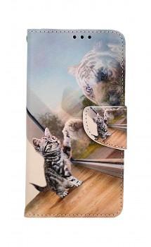 Knížkové pouzdro na iPhone 11 Odraz tygra